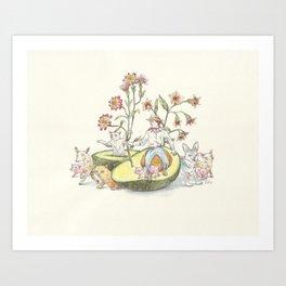 Avocado Cowboy Art Print