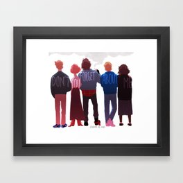 the club of five Framed Art Print