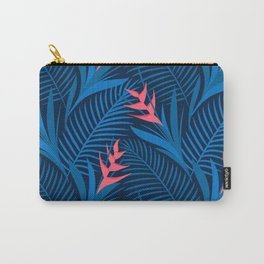 Tropical Flowers Blue Carry-All Pouch