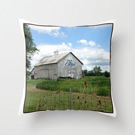 Ohio Bicentennial Barn - Wyandotte County, Ohio Throw Pillow