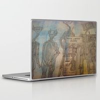 robot Laptop & iPad Skins featuring robot by helendeer