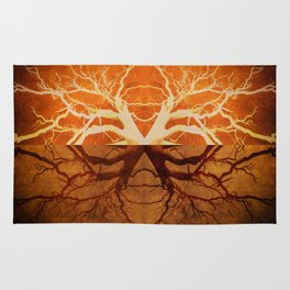 Tree Reflection of Copper Rug