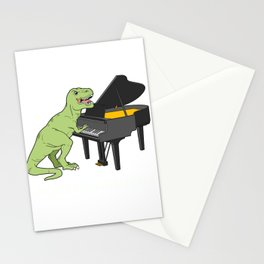 Piano Gift Print Pianist Pianosaurus T Rex Piano Player Tee Stationery Cards