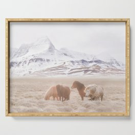 WILD AND FREE 3 - HORSES OF ICELAND Serving Tray