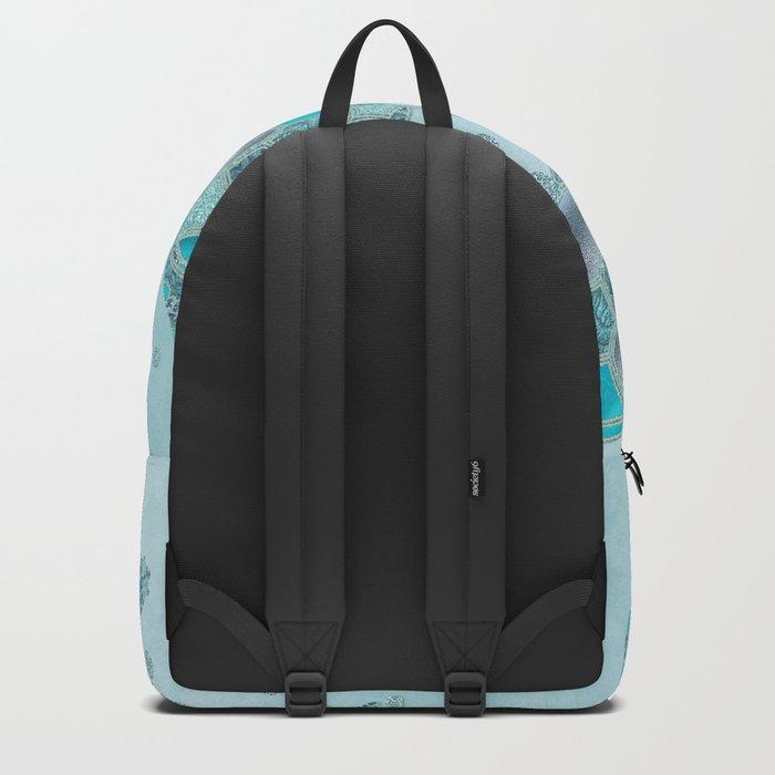 Glamour Aqua Turquoise Turtle Underwater Scenery Backpack