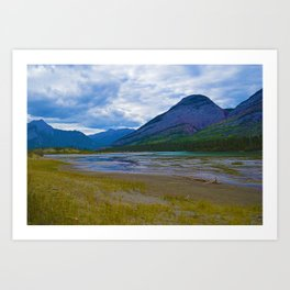Morrow Peak & the Athabasca River in Jasper National Park, Canada Art Print