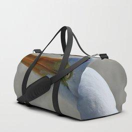 Egret Portrait Duffle Bag