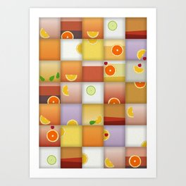 cocktail squares Art Print