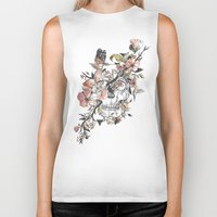 butterfly Biker Tanks featuring La Dolce Vita by Norman Duenas