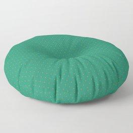 Extra Small Orange on Elf Green Polka Dots Floor Pillow