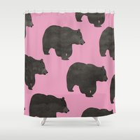 bear Shower Curtains featuring Bear by Georgiana Paraschiv