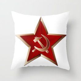Soviet Badge Insigni Throw Pillow