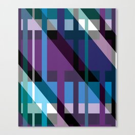 Dark multicolored pattern Canvas Print