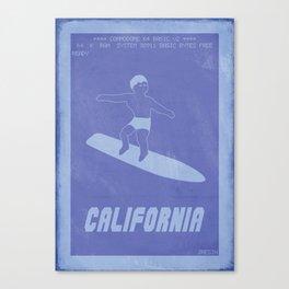Retrogaming - California games Canvas Print