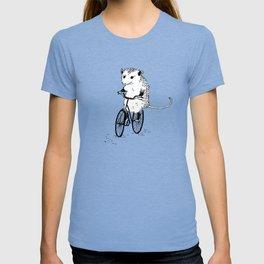 Opossums bike, too T-shirt