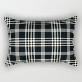 Black Plaid Rectangular Pillow