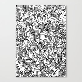 Abstract Fullpage Doodle Canvas Print