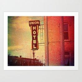 Union Hotel Art Print