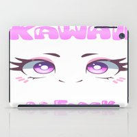 kawaii iPad Cases featuring KAWAII by s3tok41b4