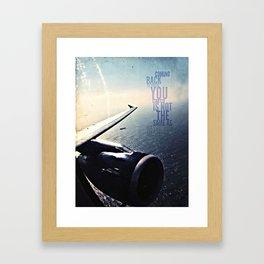 coming back v. more sky, android case Framed Art Print