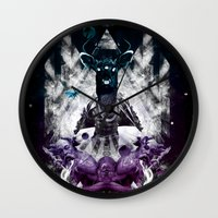 chaos Wall Clocks featuring Chaos by CAP 388