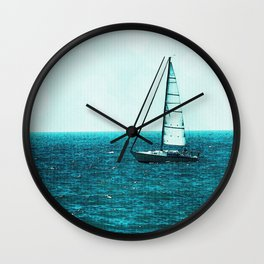 Sailing in Saugatuck - Lake Michigan Wall Clock