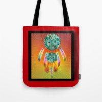 dreamcatcher Tote Bags featuring Dreamcatcher by Ganech joe