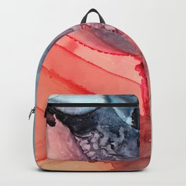 Undertow Meets Lava- Alcohol Ink Painting Backpack
