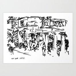 Covent Garden Sketching Art Print