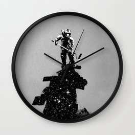 Negative Space Wall Clock