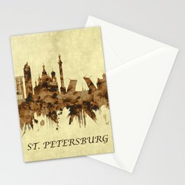 St. Petersburg Russia Cityscape Stationery Cards