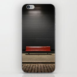 The red bench iPhone Skin