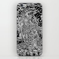 godzilla iPhone & iPod Skins featuring Godzilla by Walid Aziz