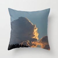 smoking Throw Pillows featuring Smoking by Lili Batista