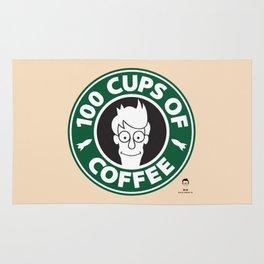 100 Cups of Coffee Rug