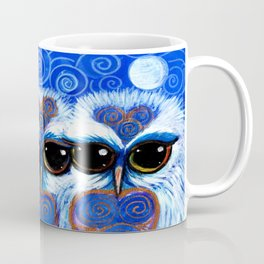 Children of the Moon, original Illustration from the Spirit Owl Series by Sheridon Rayment. Coffee Mug