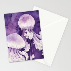 Purple Jellyfish Stationery Cards