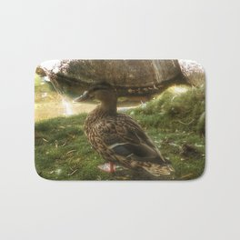 Duck on the pond Bath Mat