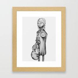 Heavy Sand Dollar Heart Framed Art Print