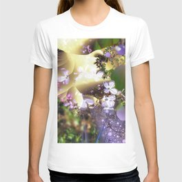 Floral fractals mixed reality T-shirt