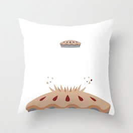 Pie, Pi, Pie Day Funny Clever Math print Throw Pillow