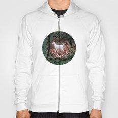 The white Deer Of Winter In Green Hoody