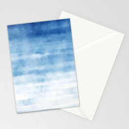 Blue Waves Watercolor Stationery Cards