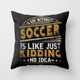 Football Passion Sport Training Throw Pillow