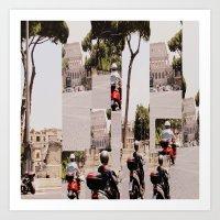 roman Art Prints featuring Roman Traffic by Eva Lesko