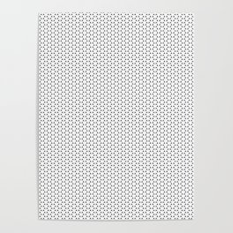 Black and White Basket Weave Circles Shapes Poster