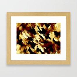 Brown Tan and Black Abtrract Framed Art Print