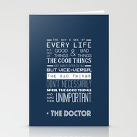 doctor who Stationery Cards featuring Doctor Who by Sarah Jane Rozman