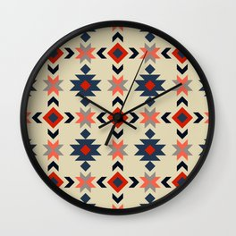 Colorful Aztec pattern Wall Clock