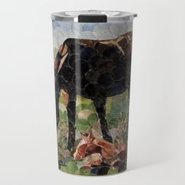""""""" Mare And Foal Hole Punch """" Travel Mug"""